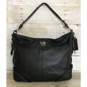 COACH Chelsea Katarina Black Leather Hobo Bag COA